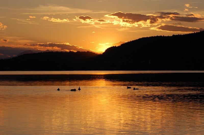 Sonnenuntergang am Wörthersee