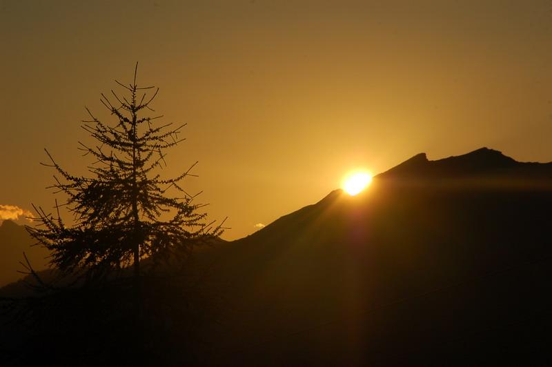 Sonnenuntergang – am Tschiernock
