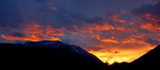 Sonnenuntergang Dobratsch/Schnee