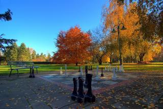 Schachbrett im Klagenfurter Europapark