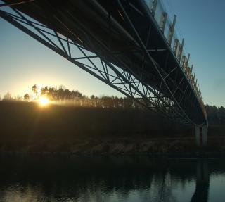 Fußgänger-Draubrücke Villach