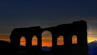 Burgruine Finkenstein Sonnenuntergang