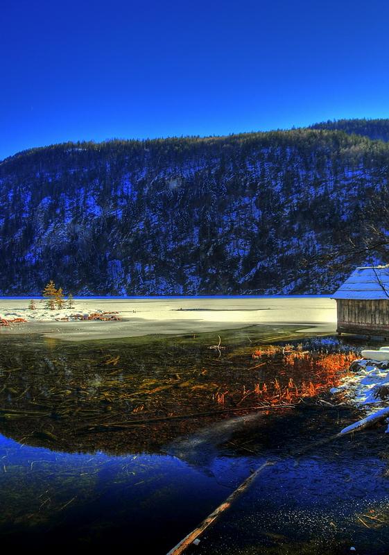Das Wasser im Toplitzsee