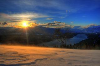 Millstättersee Schneesturm
