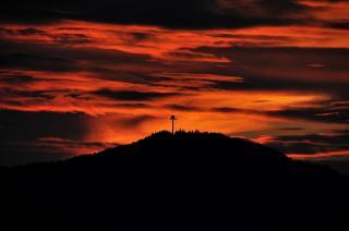 Pyramidenkogel bei Sonnenuntergang