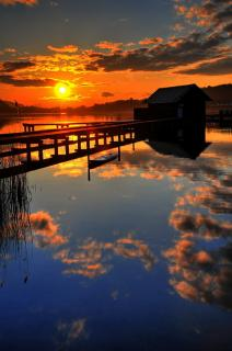 Klopeiner See Sonnenuntergang