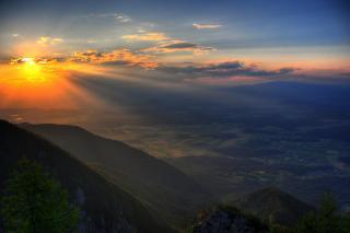 Sonnenuntergang Jauntal