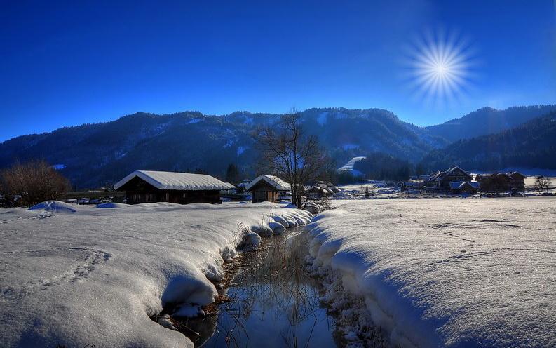 Der Weissensee im Winter…