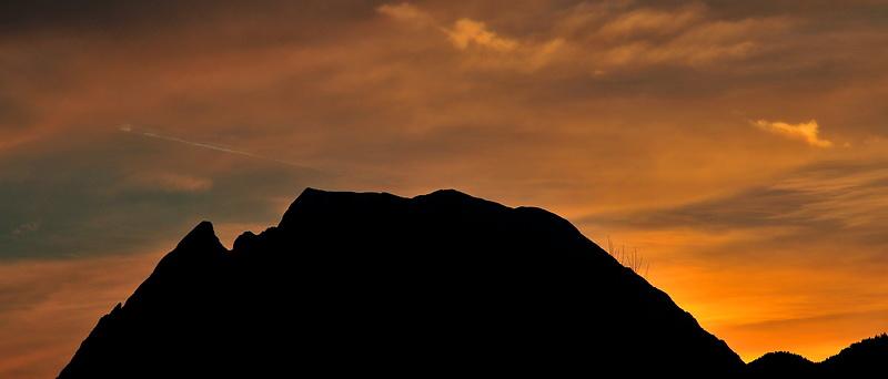 Sonnenuntergang im Ennstal…