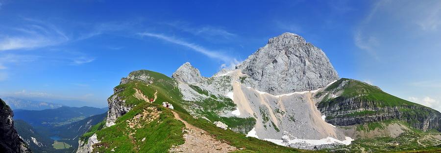 Am 2.677 Meter hohen Mangart