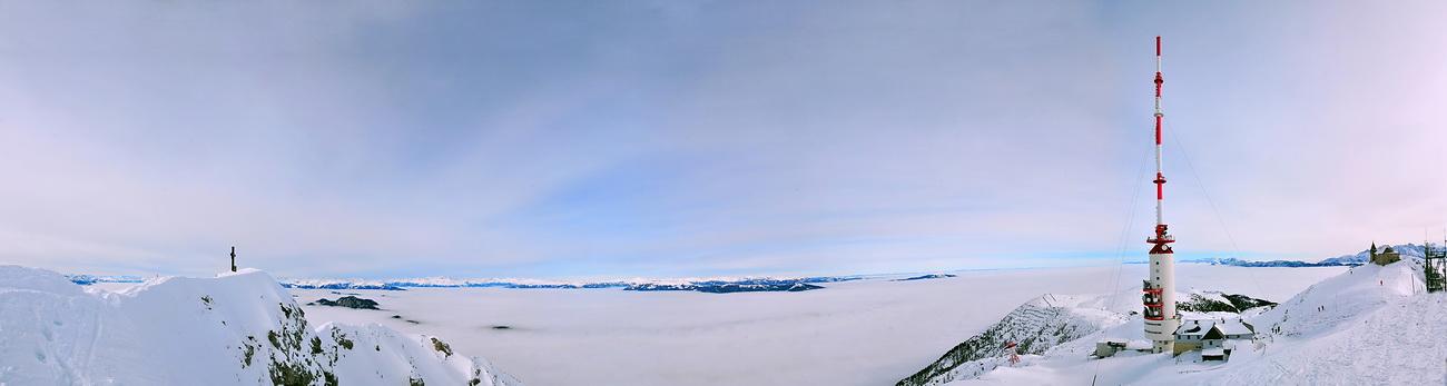 Schneeschuhtour auf der Villacher Alpe