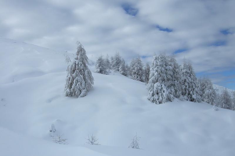 Erster Schnee – am Nationalfeiertag hinauf zum Zwölfernock